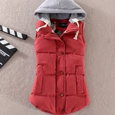 1PC <b>Autumn Winter</b> Vest Women Hooded Cotton Padded Veste ...