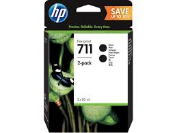 <b>HP</b> 711 2-pack <b>80</b>-ml <b>Black DesignJet</b> Ink Cartridges | <b>HP</b>® India