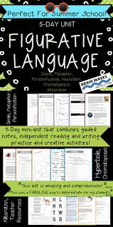 best ideas about figurative language activity figurative language unit 6 types of figurative language worksheets and lessons