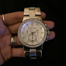 authentic michael kors crystal glitz watch authentic black crystal