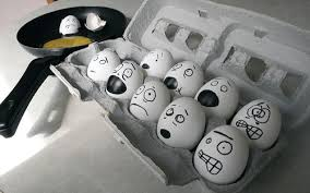 Image result for eggs with faces