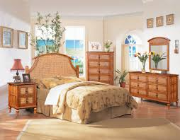 inspiring tropical bedroom decorating ideas the featuring antique cherry bamboo rattan bedroom furniture set with curved beach style bedroom furniture