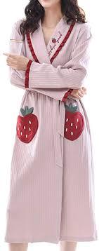 <b>Spring</b> Autumn Dressing Gown <b>Ladies</b> Robe Cardigan <b>Nightdress</b> ...