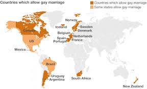 Countries which allow same sex marriage