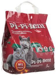 """<b>Наполнитель</b> для кошачьего туалета """"<b>Pi</b>-<b>Pi Bent</b>"""", <b>комкующийся</b>, 5 кг"""