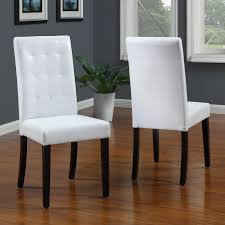 Tufted Dining Room Sets Pu Leather Contemporary Parson Dining Room Tufted Dining Chair