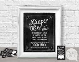 baby shower diaper raffle sign printable diaper raffle 🔎zoom