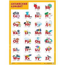 <b>Плакат</b> А2 настенный <b>Мозаика</b>-<b>Синтез</b> Алфавит-Английский ...