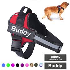 Buy Online <b>Personalized Dog Harness NO</b> PULL Reflective ...