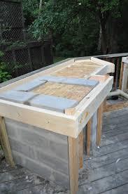 Diy Tile Kitchen Countertops Wonderful Outdoor Kitchen Cinder Block Frame With Granite Tile For