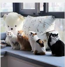 <b>WYZHY Simulation</b> fur animal <b>cat</b> model crafts creative gifts home ...