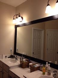 framed captivating bathroom lighting ideas white interior