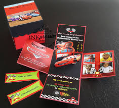 disney cars exploding box invitation kiddie invitations disney cars exploding box invitation