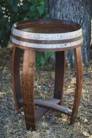 banded barrel top tasting table by alpine wine design alpine wine design outdoor finish wine barrel