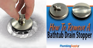 How To Remove a <b>Bathtub</b> Drain Stopper