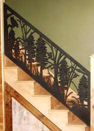 Custom Stair Railing Stair Railing Panel Custom Metal Work Alabama Metal Art