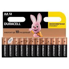 <b>Батарейки</b> КОМПЛЕКТ 12 шт., <b>DURACELL</b> Basic, <b>AA</b> (<b>LR06</b>, 15А)