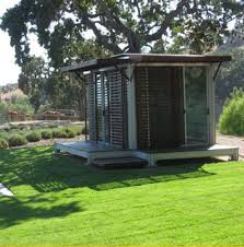 the traditional american home is big on formal dining rooms and entranceways but its arrangement is poorly suited to private desk work backyard home office pod