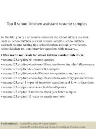 topschoolkitchenassistantresumesamples lva app thumbnail jpg cb