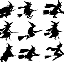 Resultado de imagen de Brujas en escobas
