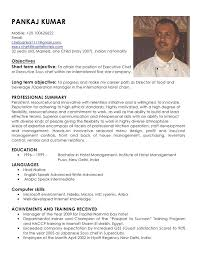 examples examples sushi chef resume objective