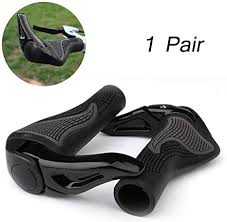 <b>1 Pair</b> Bike <b>Handlebar Grips</b> Ergonomic Design Rubber <b>Bike Grips</b> ...