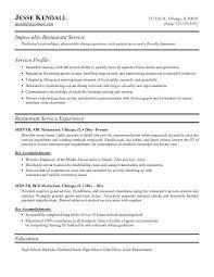sample resume for server server resume sample perfect restaurant restaurant server sample resume
