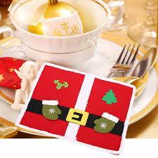 household dining table set christmas snowman knife: new arrival christmas desktop decoration christmas table mats christmas knife fork table placemat cm