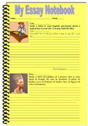 English teaching worksheets  Writing essays ESL Printables