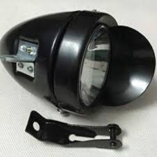 FidgetGear Metal <b>Chrome</b> Vintage Bike Bicycle Retro LED <b>Headlight</b> ...