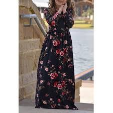 Lovely Bohemian Printed <b>Black Girls Ankle Length</b> Dress_Girls ...