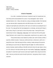 literacy narrative  essay  final draft   kala carroll january   literacy narrative  essay  final draft   kala carroll january   essay