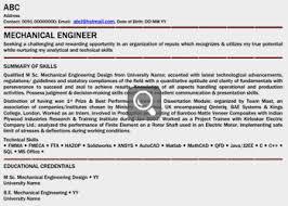 fresher_finance managment professional fresher mechanical engineer freshers resume samples