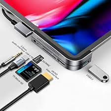 <b>USB C Hub</b> for iPad Pro 2018 2019 2020, <b>Baseus</b> 6 in 1 <b>USB C</b> to ...