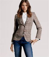 <b>Urban</b> Tweed S.B. Blazer Feminino Plaid Elbow | Модные стили ...