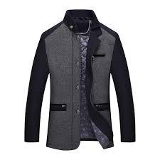 <b>Winter Thick</b> Detachable Rib Knitting Collar Zipper Side Pockets ...