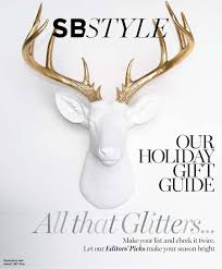home decor magazines white antler maison k featured in santa barbara magazine  holiday gift guide winter