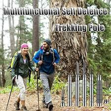 Ningc Outdoor <b>Survival</b> Alpenstock Self Defense Walk <b>Stick</b> Defense ...
