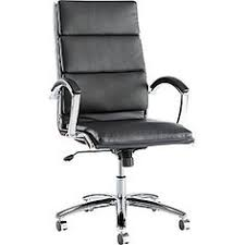 contemporary cushioned seating with a slim profile sof touch leather with chrome accents waterfall seat reduces pressure for improved circulation amy modern office chair