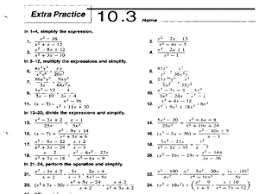 Extra Practice 10.3: Dividing Polynomials 9th - 11th Grade ...Extra Practice 10.3: Dividing Polynomials