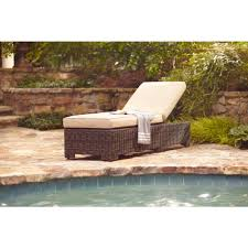 northshore patio chaise lounge with harvest cushions stock brown jordan northshore patio furniture
