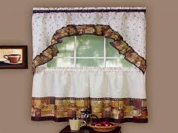 Kitchen Curtains At Walmart Abby Kitchen Curtains Swag Or Valence Wedgewood Walmart