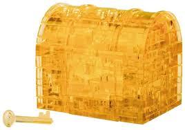 <b>3D</b>-<b>пазл Crystal Puzzle</b> Оранжевый сундук (90007), 52 дет ...
