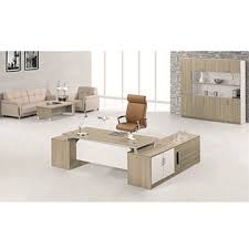 modern style teak wood boss table with side table execetive deskmanager table boss tableoffice deskexecutive deskmanager