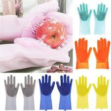 <b>1 PC</b>/Pair Multifunction Reusable <b>Silicone</b> Dishwashing Gloves <b>Fruit</b> ...