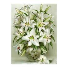 White Lily floral <b>Moge Diamond</b> Painting Full Round vase New <b>DIY</b> ...
