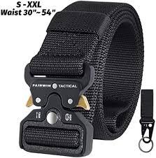 Fairwin <b>Tactical Belt</b> for Men, <b>Military</b> Style Nylon Web <b>Belt</b> with ...