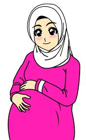 Hasil gambar untuk kartun hamil