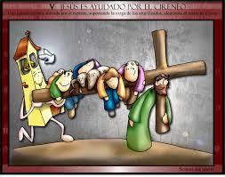 Resultado de imagen para V Estación: Simón ayuda a llevar la cruz de Jesús