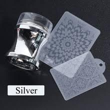 4 шт./компл. силиконовый зеркальный стемпер для ногтей ясная ...